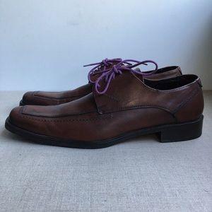 Dueffe Uomo Men EU 44 Brown Leather Lace-Up Shoes